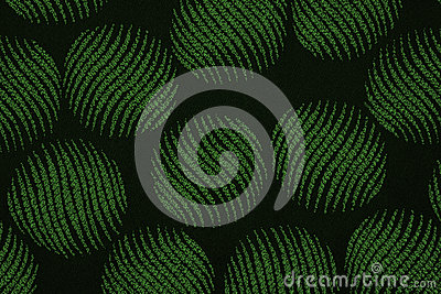 Material in green circles, a background