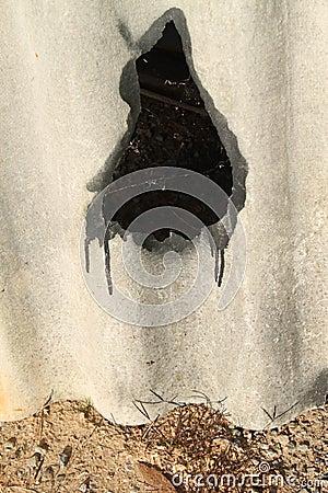 Primo piano del materiale di tetto dell'amianto fotografia stock ...