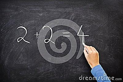 Math blackboard / chalkboard writing