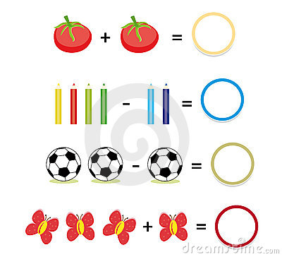 Free Math Game, Part 2 Royalty Free Stock Image - 15772236