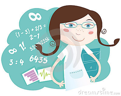 Math Girl Royalty Free Stock Photography - Image: 9806837