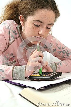 Math Homework Closeup