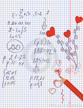 Math and love hearts