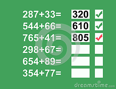 Math Problems Equation
