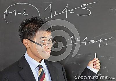 Math teacher pointing error