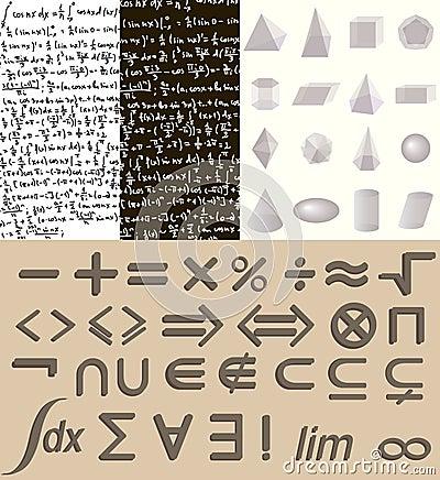 Free Mathematics Set Stock Images - 44317514