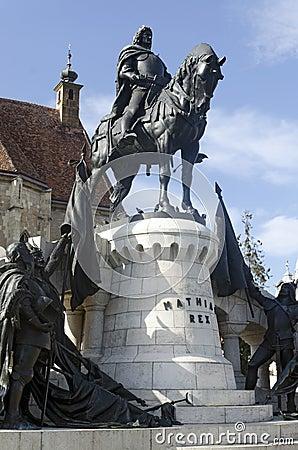 Mathias Corvin statue, Cluj Napoca, Romania