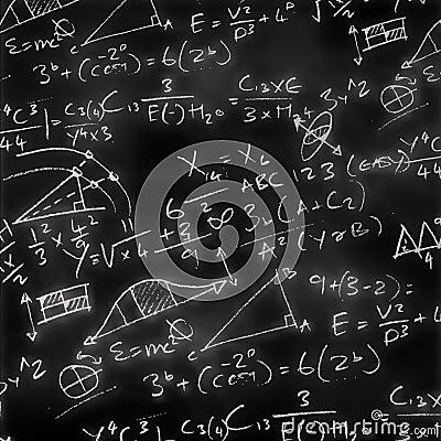 Free Maths Chalk Board Royalty Free Stock Photo - 9234275