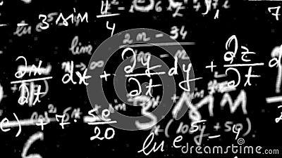 Maths równania pętla z alfa matte zdjęcie wideo