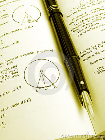 Free Maths Reference Book And Pen Royalty Free Stock Photos - 6308588