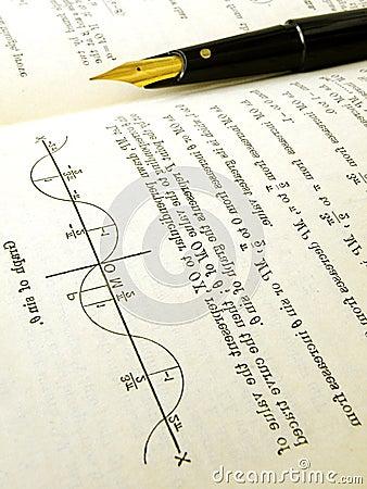 Maths text book open
