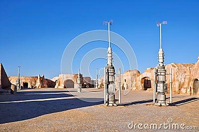 Matmata town in Tunisia