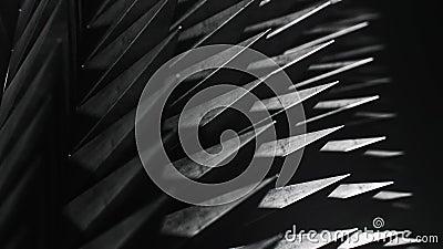 Matrice di ciclaggio delle punte spaventose nell'ambito di illuminazione drammatica, versione 2 royalty illustrazione gratis
