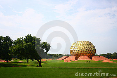 Matrimandir chez Auroville, Pondicherry