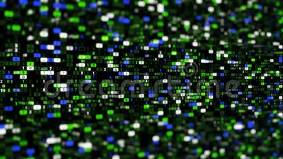 Matrix background of digital space with number. Animation. Lots of rows with colorful cells and changing numbers in. Cyberspace matrix royalty free illustration