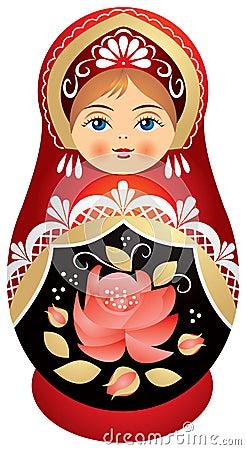 Free Matryoshka Doll In Kokoshnik Royalty Free Stock Photography - 15129997