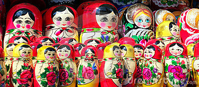 Matryoshka dolls panorama