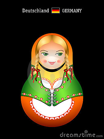 Matryoshka german girl