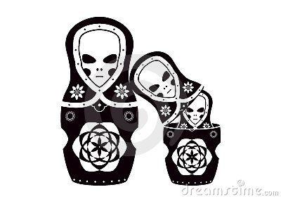 Matryoshka (russian dolls) ET family