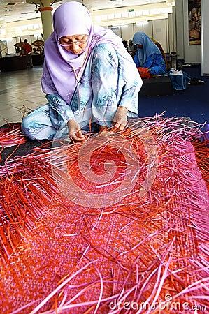 Mats weaving. Editorial Photography