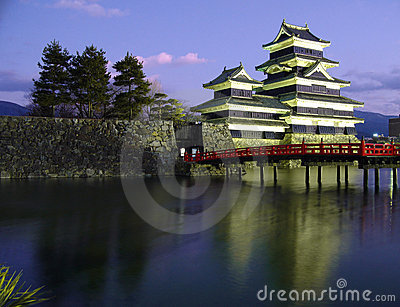 Matsumoto Castle 02, twilight, Japan