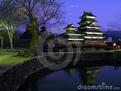 Matsumoto Castle 06, twilight, Japan