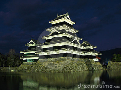 Matsumoto Castle 08, night, Japan