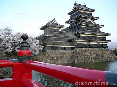 Matsumoto Castle during Sakura