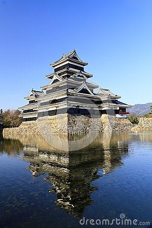 Matsumoto Castle, south west view.