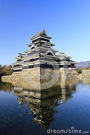Matsumoto Castle, south west view.