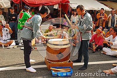 Matsuri é festival tradicional Imagem Editorial