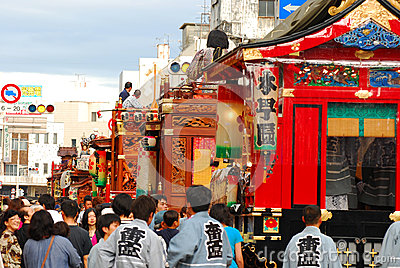 Matsuri is traditional most famous in Shizuoka. Editorial Stock Image