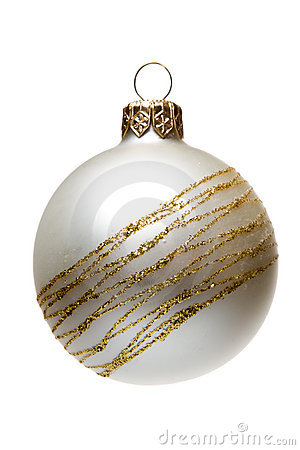 Matt Christmas tree decoration, isolated