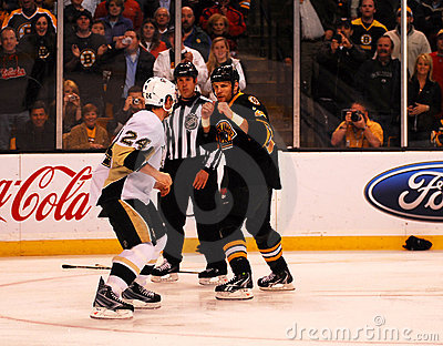 Matt Cooke and Shawn Thornton square off Editorial Photo