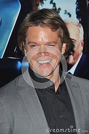 Matt Damon Editorial Stock Image