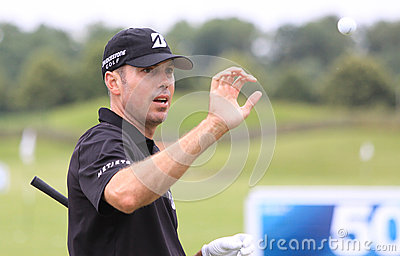 Matt Kuchar at The French golf Open 2013 Editorial Stock Photo