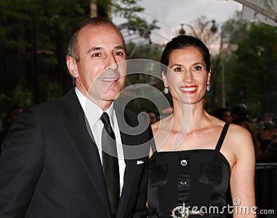 Matt Lauer and Annette Roque Editorial Photo