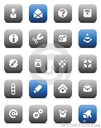 Matt miscellaneous buttons