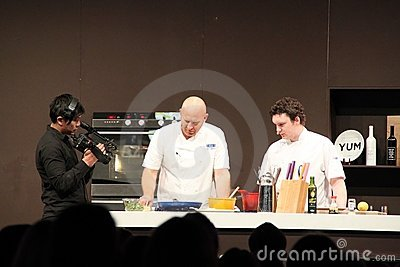 Matt Moran cooking demonstration Editorial Photography