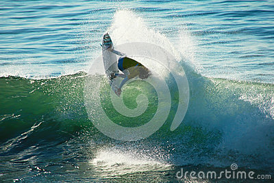 Matt Wilkinson Surfing in Santa Cruz, California. Editorial Image
