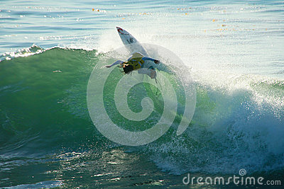 Matt Wilkinson Surfing in Santa Cruz, California. Editorial Photo