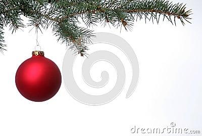 Matte Red Christmas Ball