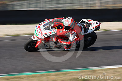 Matteo Baiocco - Ducati 1198R - Barni Racing Editorial Stock Image
