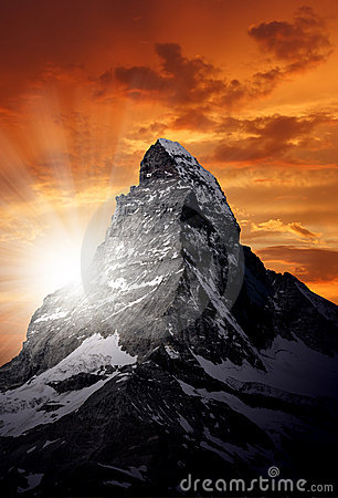 Free Matterhorn Royalty Free Stock Photography - 20352327