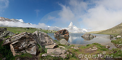 Matterhorn in Alps, Switzerland