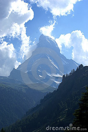 Matterhorn and Clouds