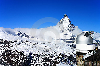 Matterhorn and Gornergrat observation tower
