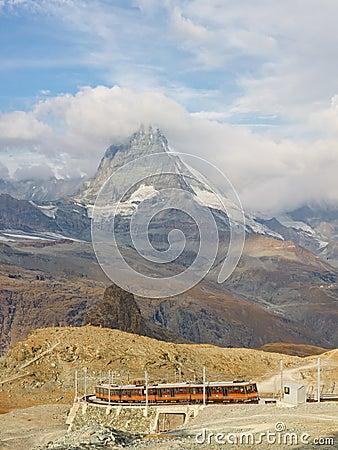 Matterhorn and Gornergratbahn Editorial Image