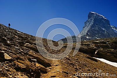 Matterhorn with man