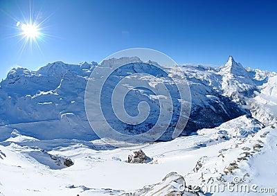 Matterhorn and Monte Rosa